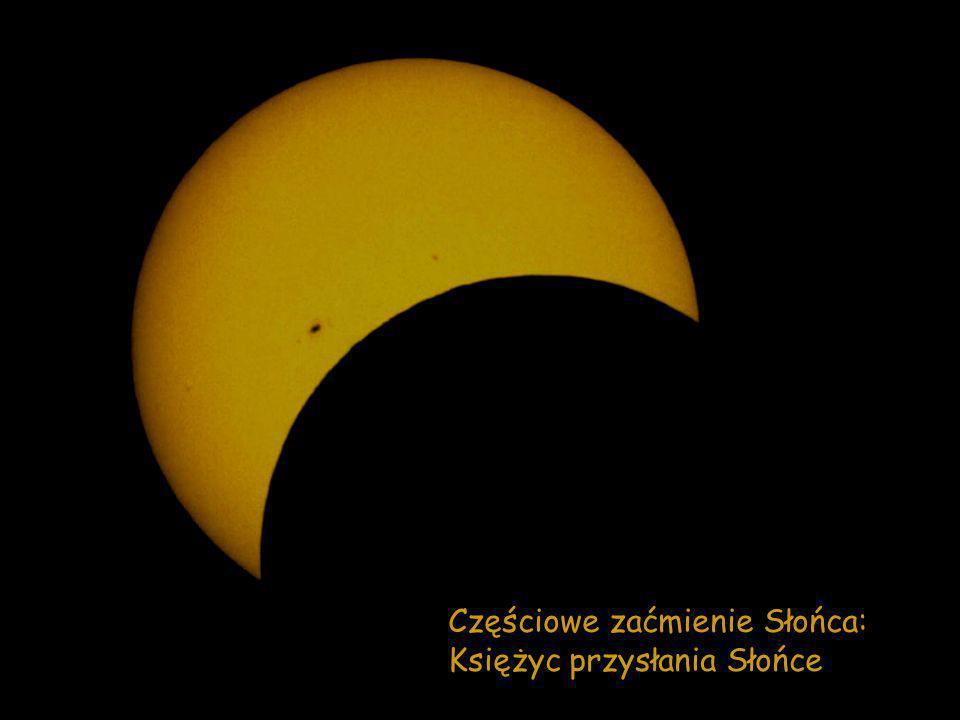 Częściowe zaćmienie Słońca: Księżyc przysłania Słońce