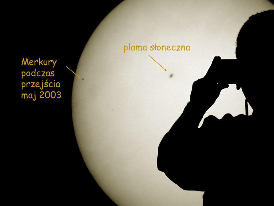 Merkury podczas przejścia maj 2003 plama słoneczna