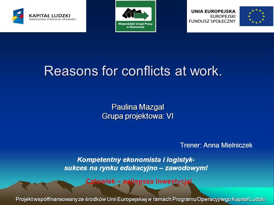 Czynniki zewnętrzne mogą również prowadzić do konfliktów w miejscu pracy.