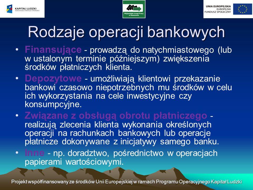 Projekt współfinansowany ze środków Unii Europejskiej w ramach Programu Operacyjnego Kapitał Ludzki Największe banki świata Liczby w USD wg Tier 1 capital, podane na koniec 2005 r.