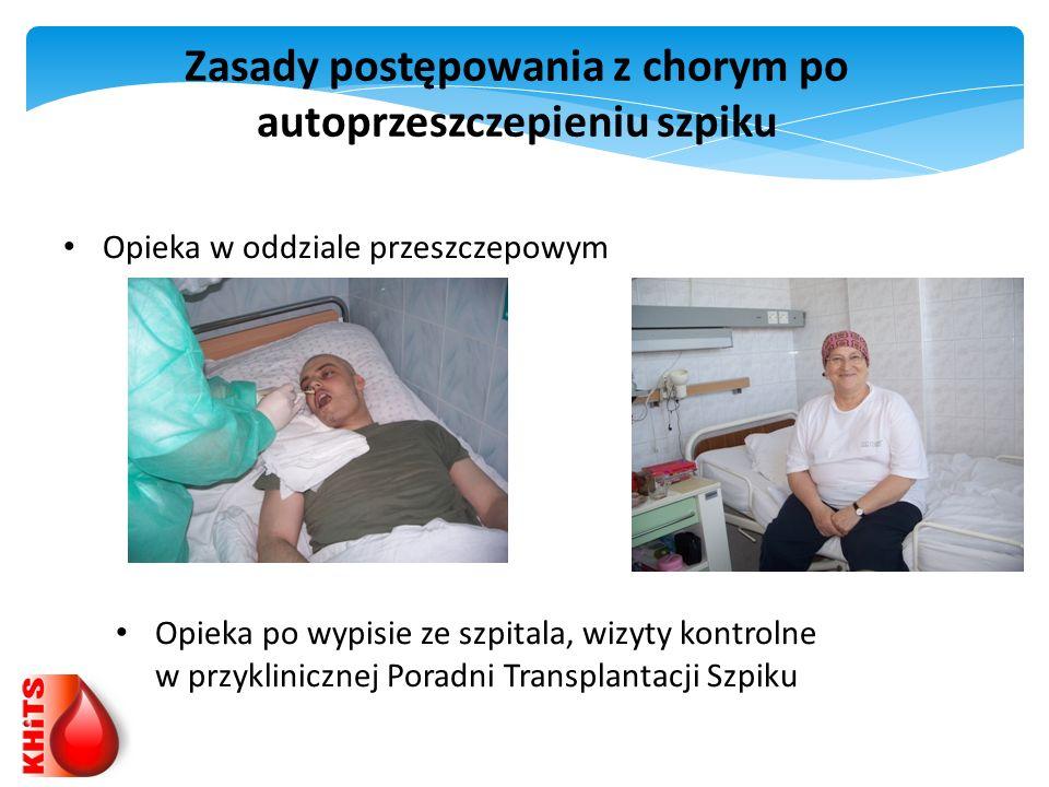 Zasady postępowania z chorym po autoprzeszczepieniu szpiku Opieka w oddziale przeszczepowym Opieka po wypisie ze szpitala, wizyty kontrolne w przyklin