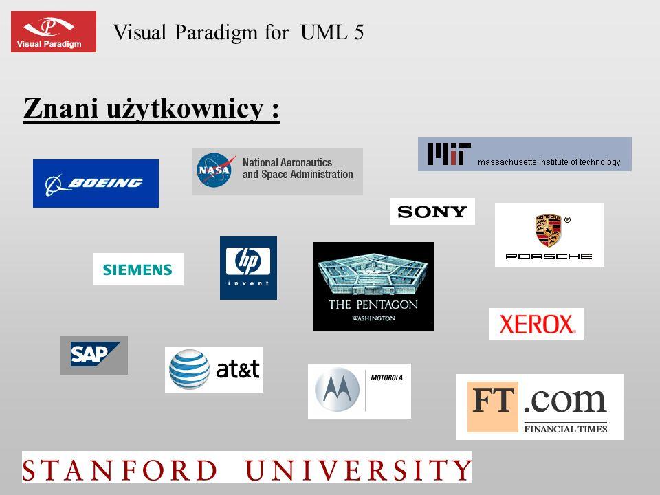 Visual Paradigm for UML 5 Znani użytkownicy :
