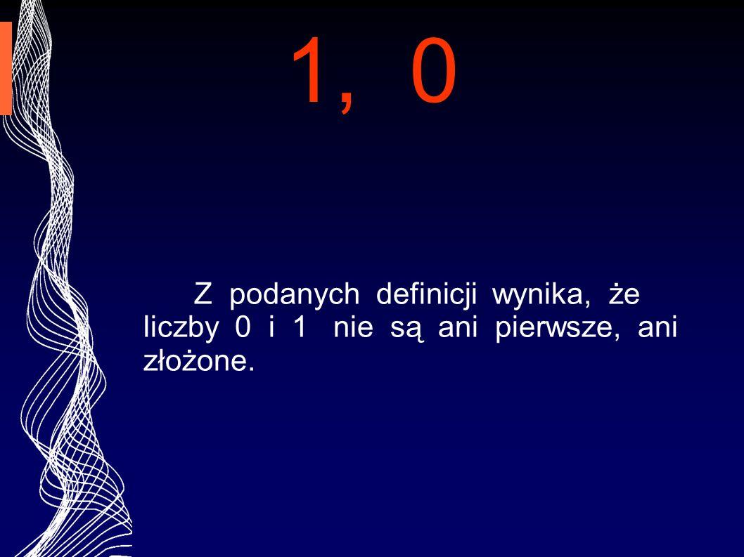 LICZBY PIERWSZE To liczby naturalne, podzielne tylko przez 1 i samą siebie.