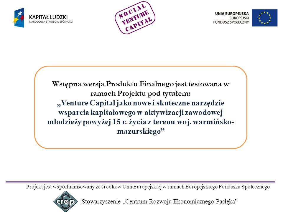 Realizatorem Projektu jest: Stowarzyszenie Centrum Rozwoju Ekonomicznego Pasłęka ul.