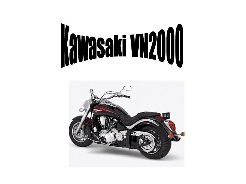 SPECYFIKACJA VN 2000 Typ silnika - czterosuwowy, chłodzony cieczą, dwucylindrowy w układzie V Pojemność silnika [cm3] - 2053 Średnica x skok tłoka [mm] - 108 x 123,2 Stopień kompresji - 9,5:1 Układ rozrządu, zawory - OHV, 8 zaworów, 4 zawory na cylinder Moc maksymalna [kW (KM) / obr.