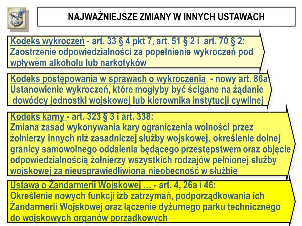 Kodeks wykroczeń - art. 33 § 4 pkt 7, art. 51 § 2 i art. 70 § 2: Zaostrzenie odpowiedzialności za popełnienie wykroczeń pod wpływem alkoholu lub narko