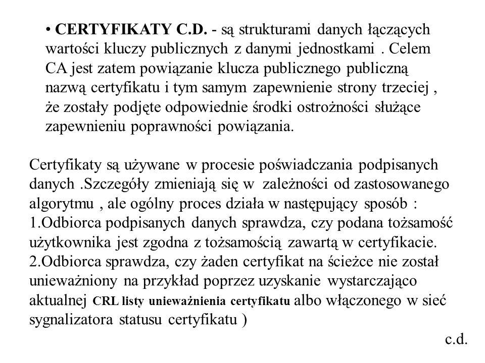 CERTYFIKATY C.D.