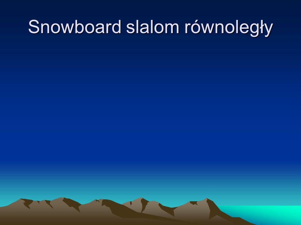 Snowboard slalom równoległy