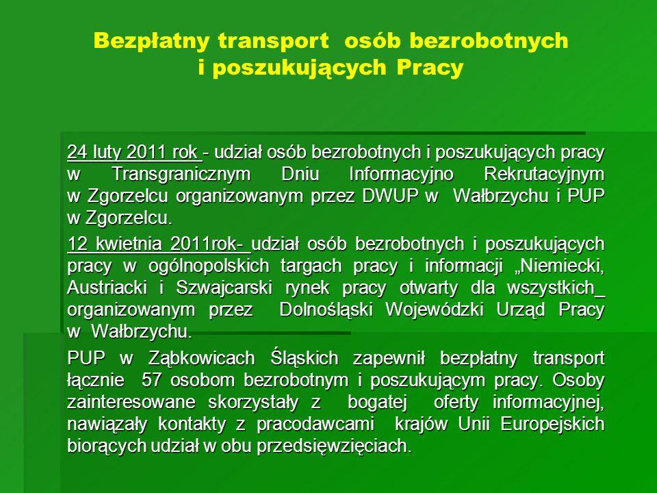 24 luty 2011 rok - udział osób bezrobotnych i poszukujących pracy w Transgranicznym Dniu Informacyjno Rekrutacyjnym w Zgorzelcu organizowanym przez DW