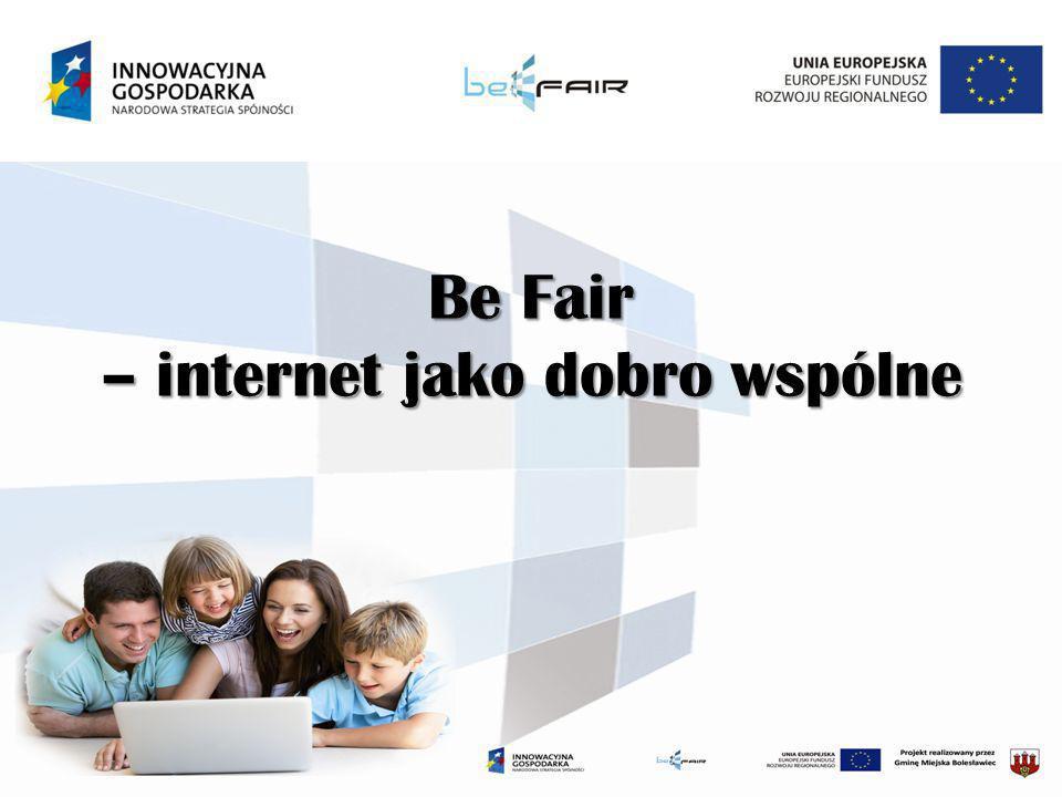 Cel projektu Celem ogólnym projektu jest przeciwdziałanie wykluczeniu cyfrowemu na terenie miasta Bolesławiec poprzez zapewnienie szerokopasmowego dostępu do Internetu mieszkańcom będącym w trudnej sytuacji materialnej lub niepełnosprawności wraz z przeprowadzaniem działań koordynacyjnych w jednostkach publicznych podległych Gminie Miejskiej Bolesławiec.
