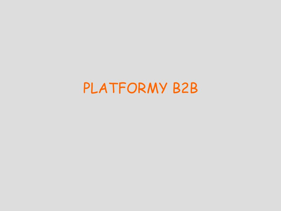 PLATFORMY B2B
