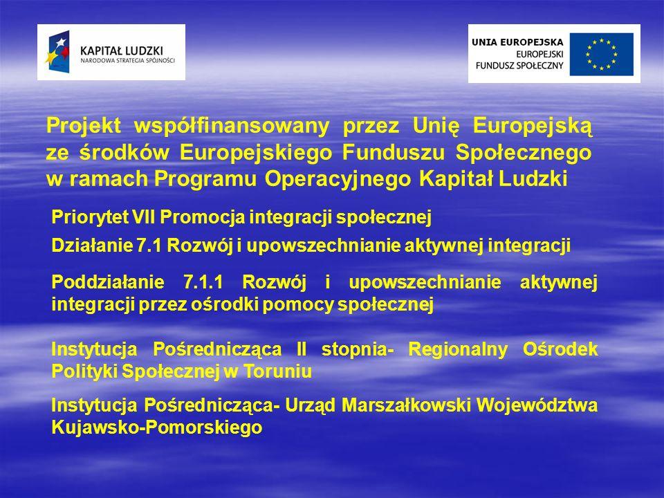 Projekt współfinansowany przez Unię Europejską ze środków Europejskiego Funduszu Społecznego w ramach Programu Operacyjnego Kapitał Ludzki Priorytet V