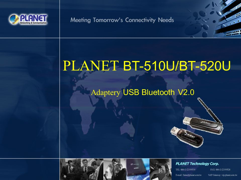 PLANET BT-510U/BT-520U Adaptery USB Bluetooth V2.0