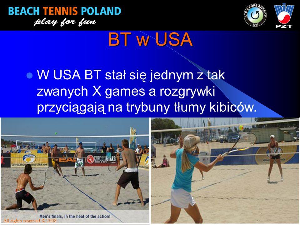 BT w USA W USA BT stał się jednym z tak zwanych X games a rozgrywki przyciągają na trybuny tłumy kibiców. All rights reserved © 2008