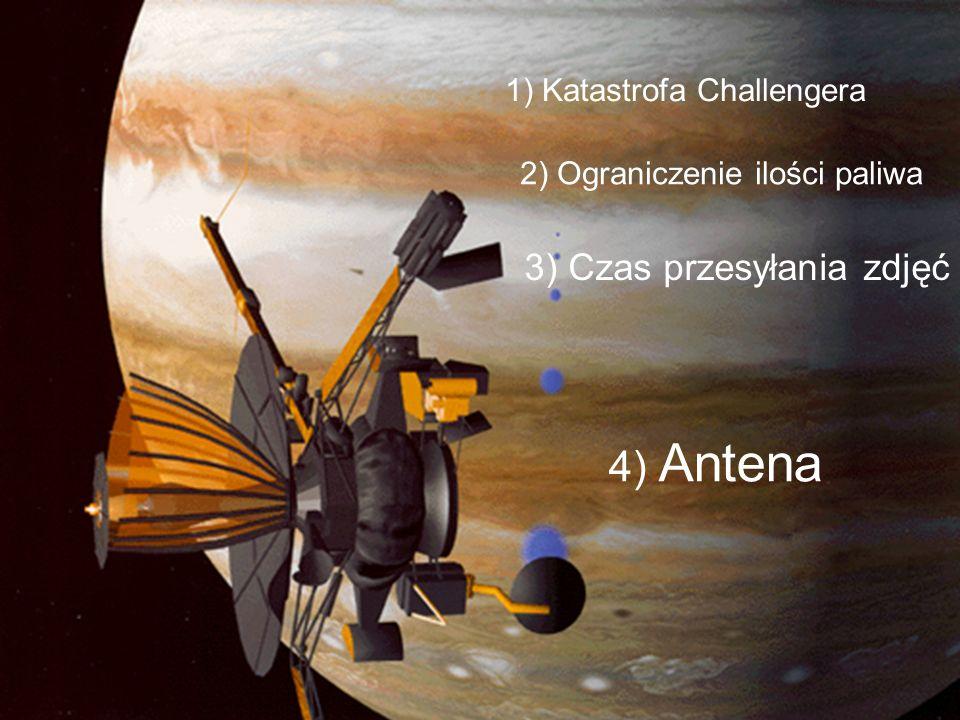 4) Antena 1) Katastrofa Challengera 2) Ograniczenie ilości paliwa 3) Czas przesyłania zdjęć