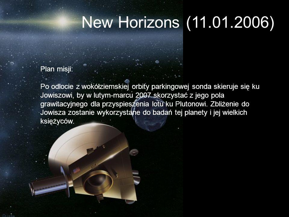 Plan misji: Po odlocie z wokółziemskiej orbity parkingowej sonda skieruje się ku Jowiszowi, by w lutym-marcu 2007 skorzystać z jego pola grawitacyjneg
