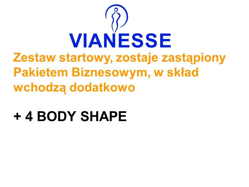 Zestaw startowy, zostaje zastąpiony Pakietem Biznesowym, w skład wchodzą dodatkowo + 4 BODY SHAPE