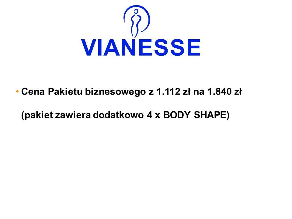Cena Pakietu biznesowego z 1.112 zł na 1.840 zł (pakiet zawiera dodatkowo 4 x BODY SHAPE)