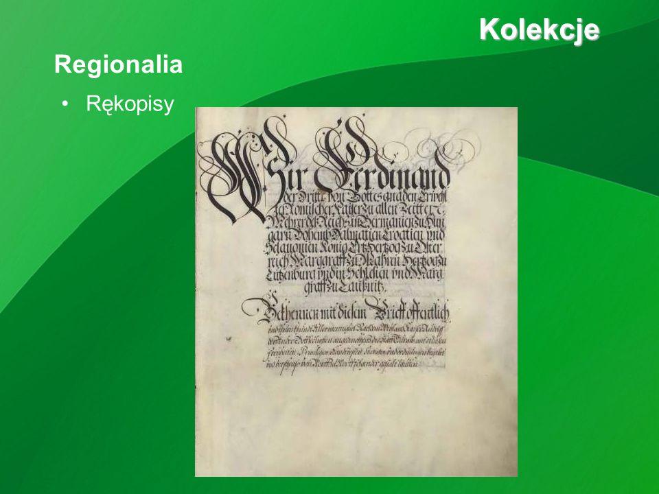 Rękopisy Kolekcje Kolekcje Regionalia
