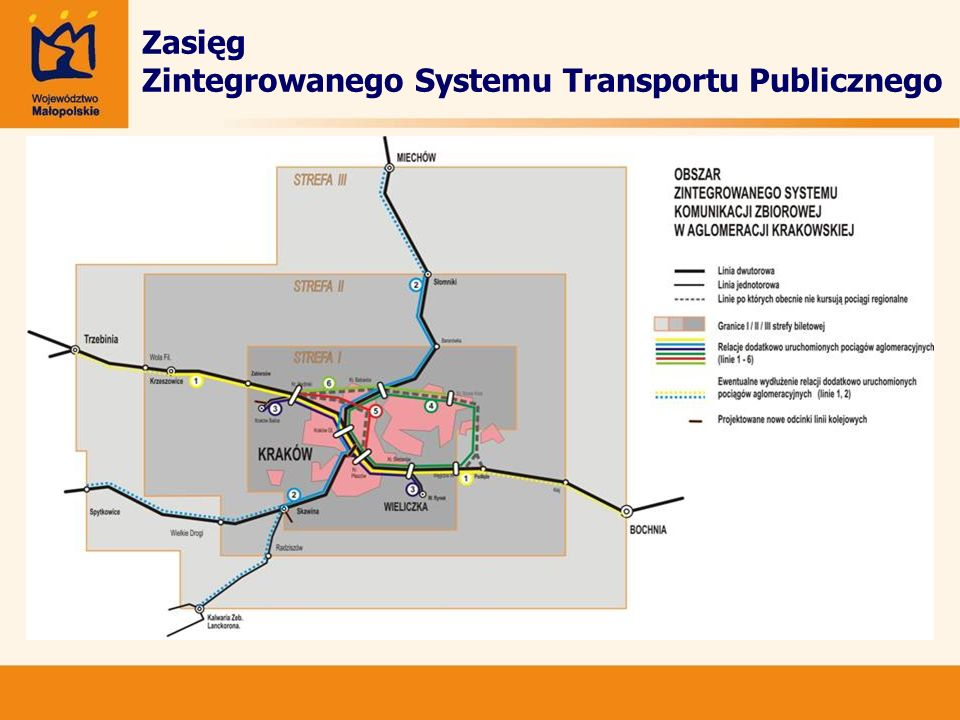 Zasięg Zintegrowanego Systemu Transportu Publicznego