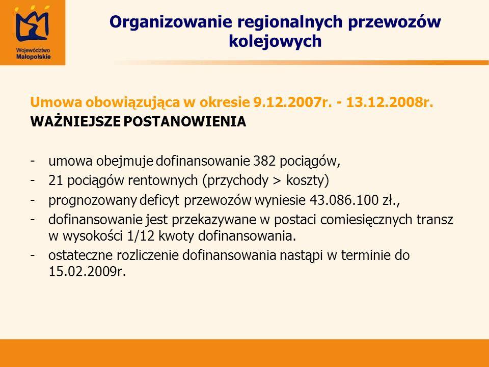 Etapy przedsięwzięcia Etap I: Linia nr 1:Podłęże - Krzeszowice Linia nr 2:Słomniki - Skawina Linia nr 3:Kraków Balice - Kraków Główny - Wieliczka Rynek Etap II: Linia nr 4: Okrężna (Kraków Główny – Batowice – Nowa Huta – Przylasek Rusiecki – Kraków Płaszów – Kraków Główny) Linia nr 5: Mydlniki – Mała Obwodnica – Kraków Płaszów Linia nr 6: Mydlniki – Batowice – Nowa Huta