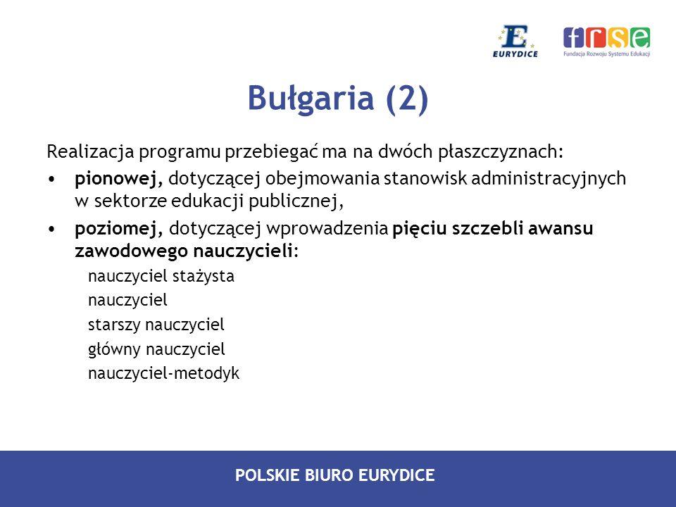 POLSKIE BIURO EURYDICE Realizacja programu przebiegać ma na dwóch płaszczyznach: pionowej, dotyczącej obejmowania stanowisk administracyjnych w sektor