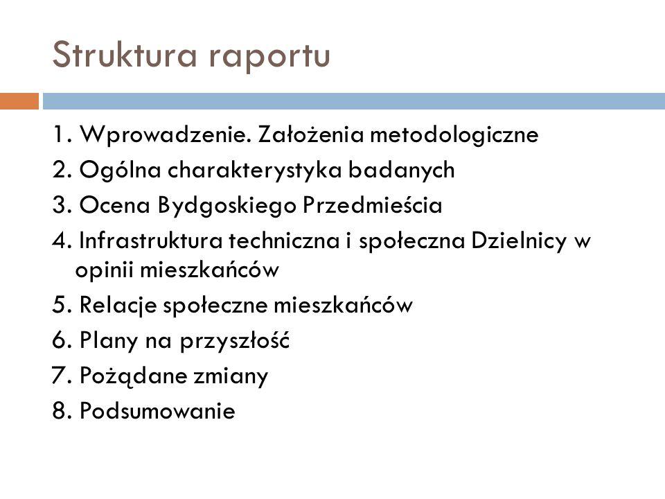 Struktura raportu 1. Wprowadzenie. Założenia metodologiczne 2.