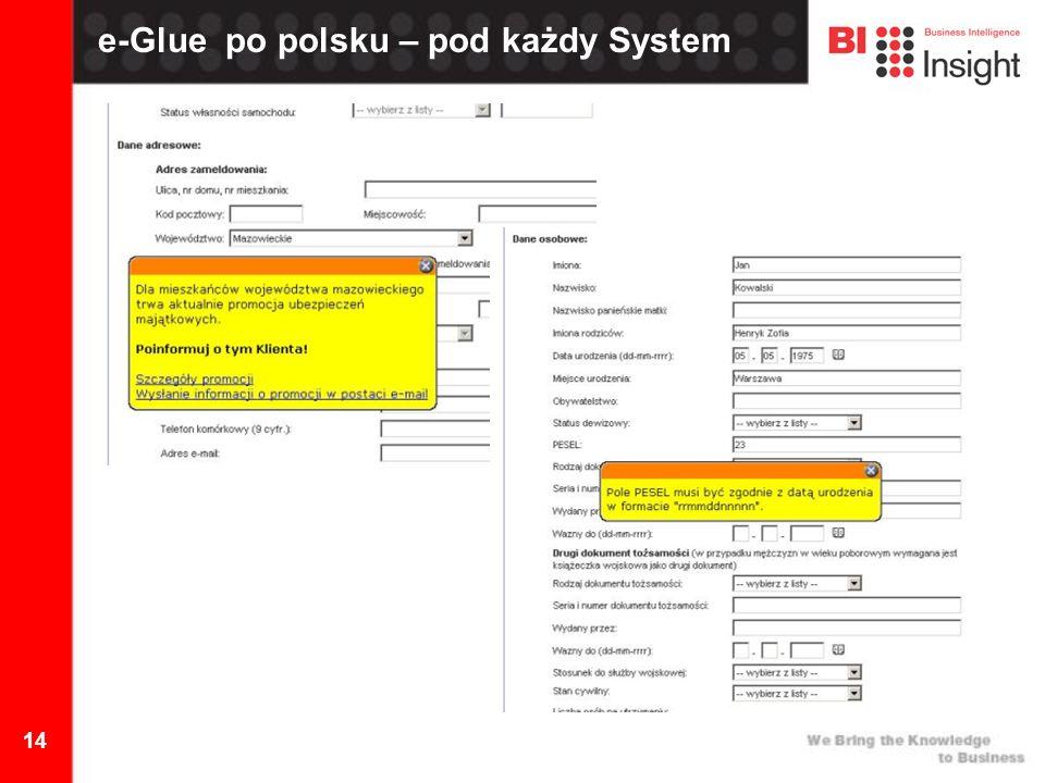14 e-Glue po polsku – pod każdy System