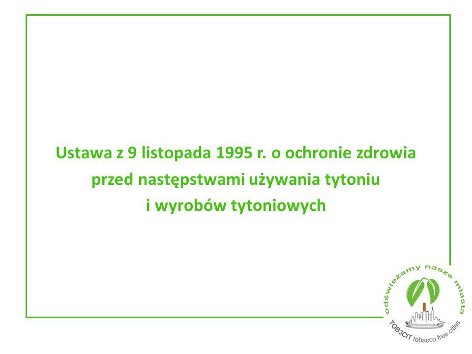Ustawa z 9 listopada 1995 r. o ochronie zdrowia przed następstwami używania tytoniu i wyrobów tytoniowych