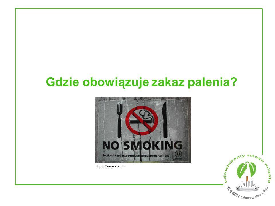 Gdzie obowiązuje zakaz palenia? http://www.sxc.hu