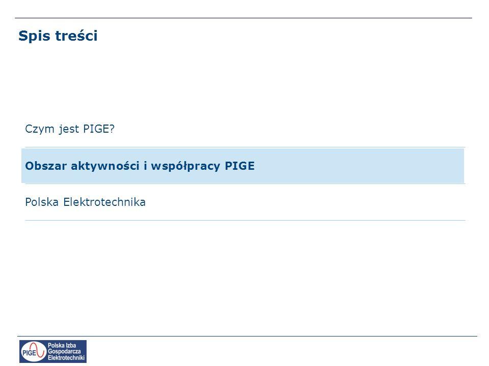 Spis treści Polska Elektrotechnika Czym jest PIGE? Obszar aktywności i współpracy PIGE
