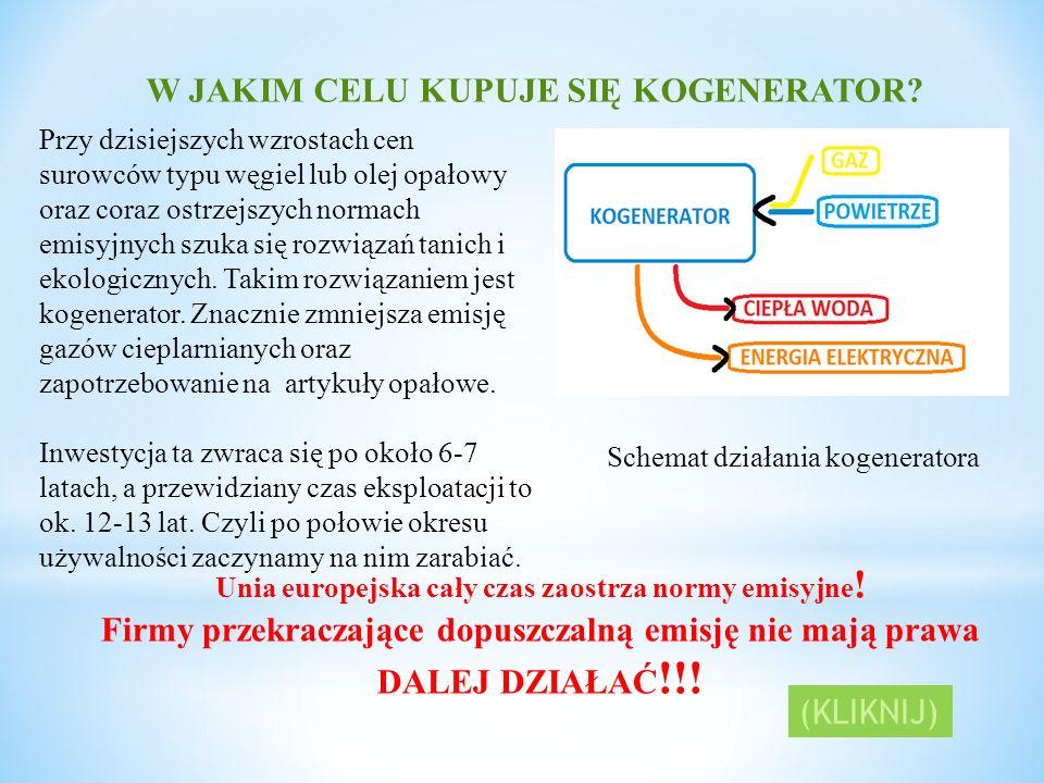 Zasada działania kogeneratora gazowego Gaz Powietrze Miejsce zmieszania substancji Dopływ gazu jest połączony elastyczną rurą z dopływami powietrza.