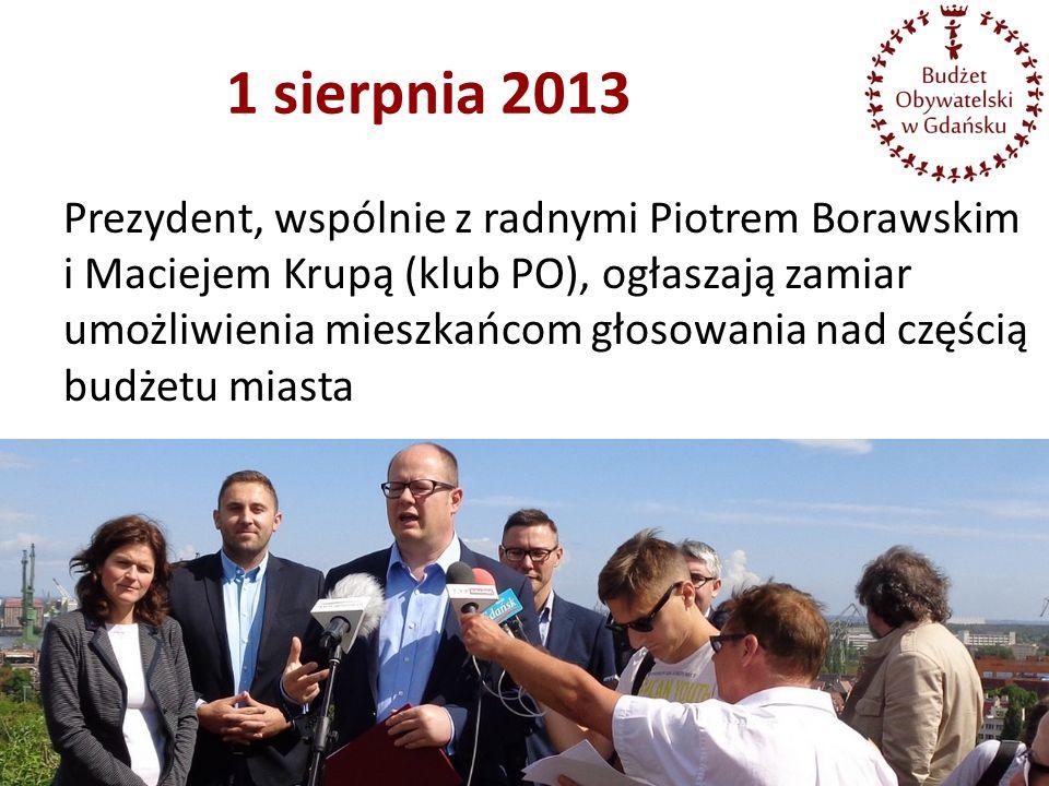 1 sierpnia 2013 Prezydent, wspólnie z radnymi Piotrem Borawskim i Maciejem Krupą (klub PO), ogłaszają zamiar umożliwienia mieszkańcom głosowania nad c
