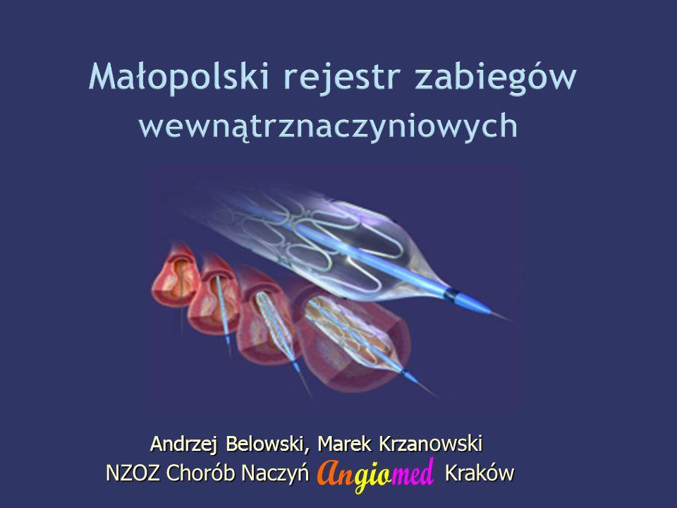 Andrzej Belowski, Marek Krzan owski Andrzej Belowski, Marek Krzan owski NZOZ Chorób Naczyń Kraków