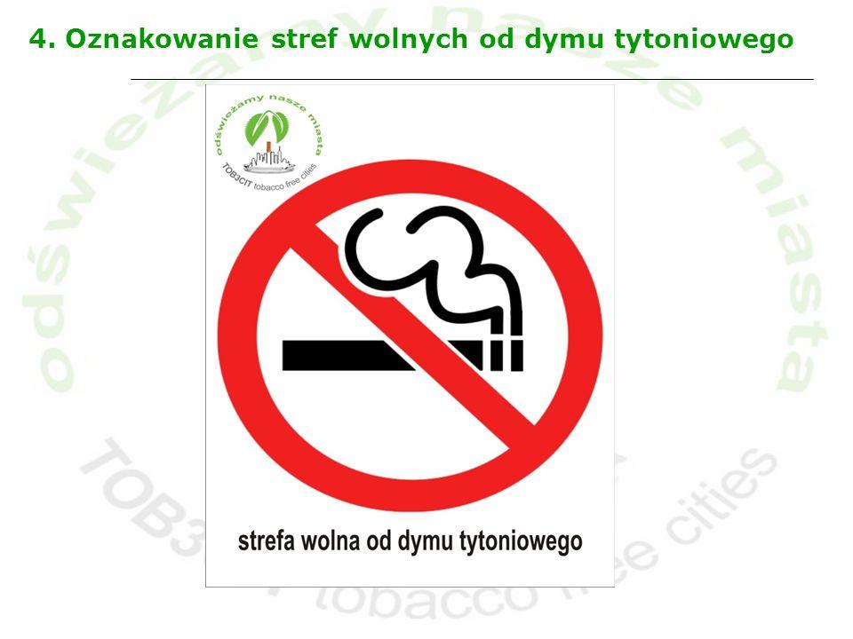 4. Oznakowanie stref wolnych od dymu tytoniowego