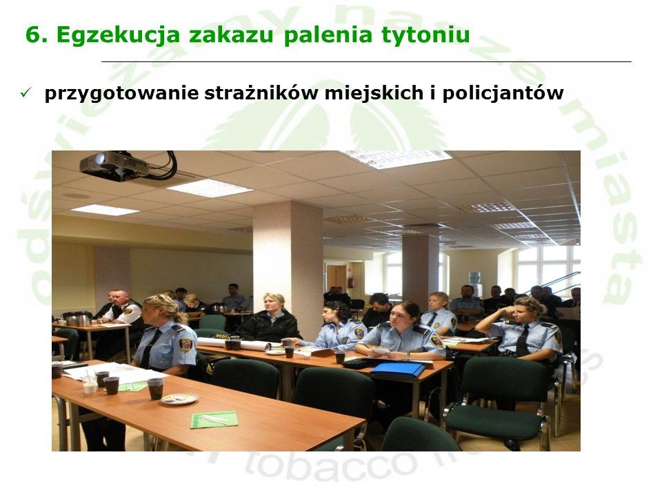 6. Egzekucja zakazu palenia tytoniu przygotowanie strażników miejskich i policjantów