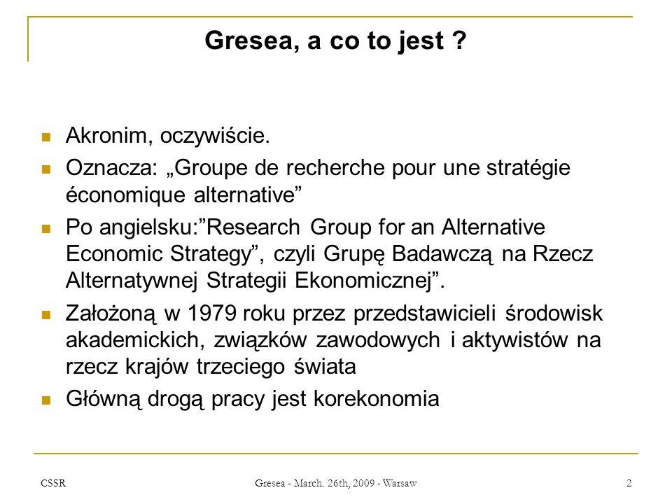 CSSR Gresea - March.26th, 2009 - Warsaw 3 Kodeks Postępowania NGO Podstawy, ktoś coś wie na temat.