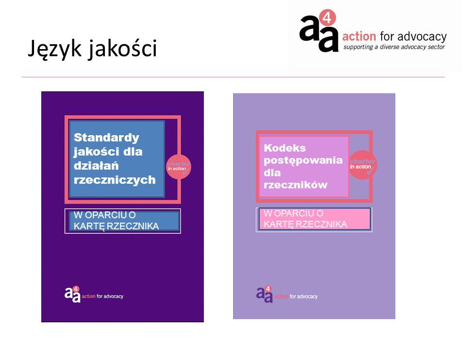 Język jakości Standardy jakości dla działań rzeczniczych W OPARCIU O KARTĘ RZECZNIKA