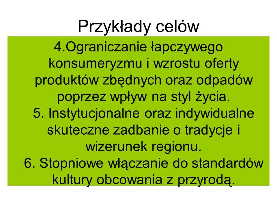 Przykłady celów 7.