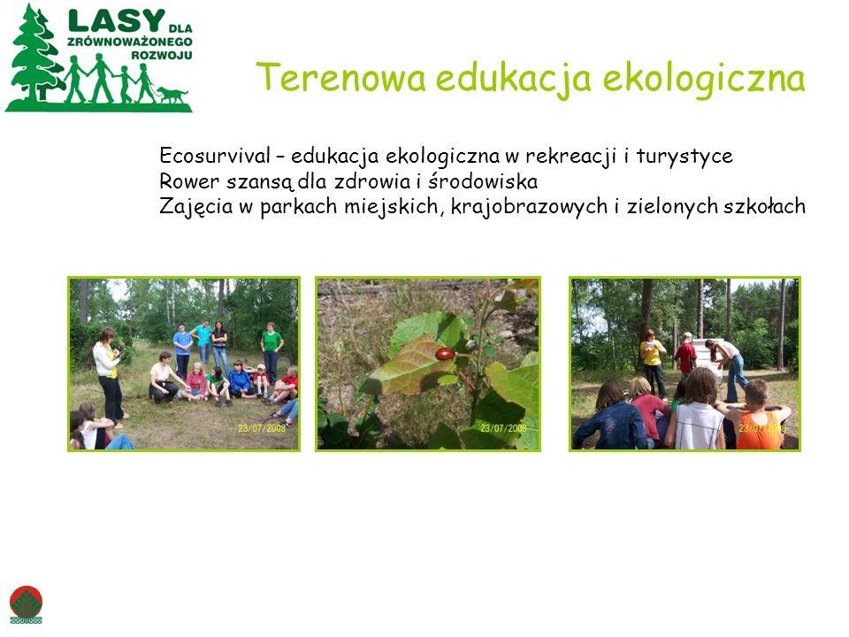 Terenowa edukacja ekologiczna Ecosurvival – edukacja ekologiczna w rekreacji i turystyce Rower szansą dla zdrowia i środowiska Zajęcia w parkach miejskich, krajobrazowych i zielonych szkołach
