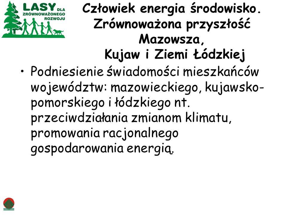 Człowiek energia środowisko. Zrównoważona przyszłość Mazowsza, Kujaw i Ziemi Łódzkiej Podniesienie świadomości mieszkańców województw: mazowieckiego,