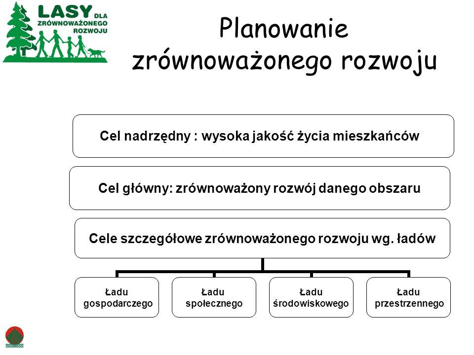 Planowanie zrównoważonego rozwoju Cele szczegółowe zrównoważonego rozwoju wg.