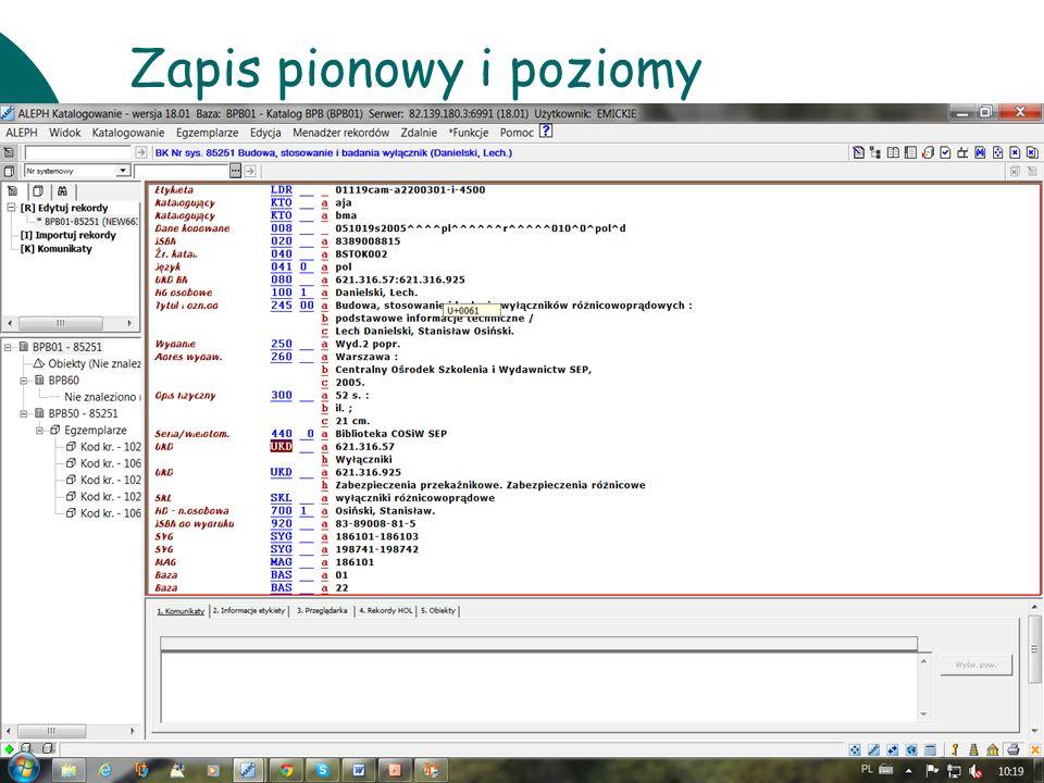 10 czerwcaWarsztaty UKD BN 201114 Zapis pionowy i poziomy