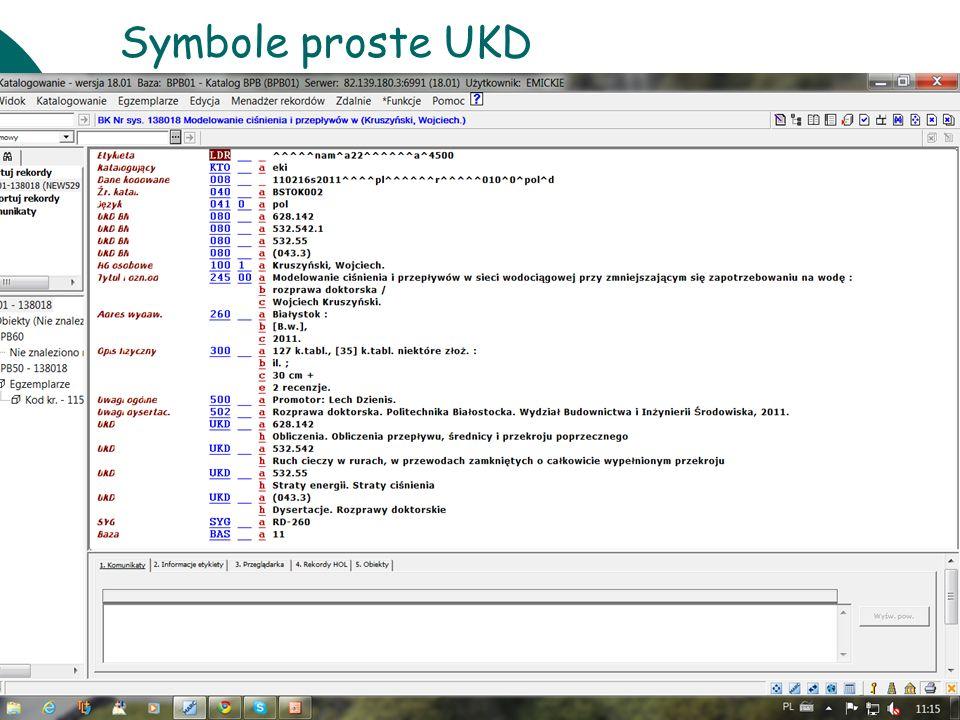 10 czerwcaWarsztaty UKD BN 201131 Symbole proste UKD