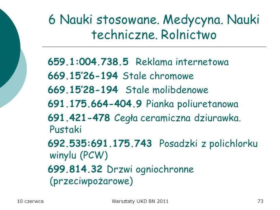 10 czerwcaWarsztaty UKD BN 201173 6 Nauki stosowane. Medycyna. Nauki techniczne. Rolnictwo 659.1:004.738.5 Reklama internetowa 669.1526-194 Stale chro