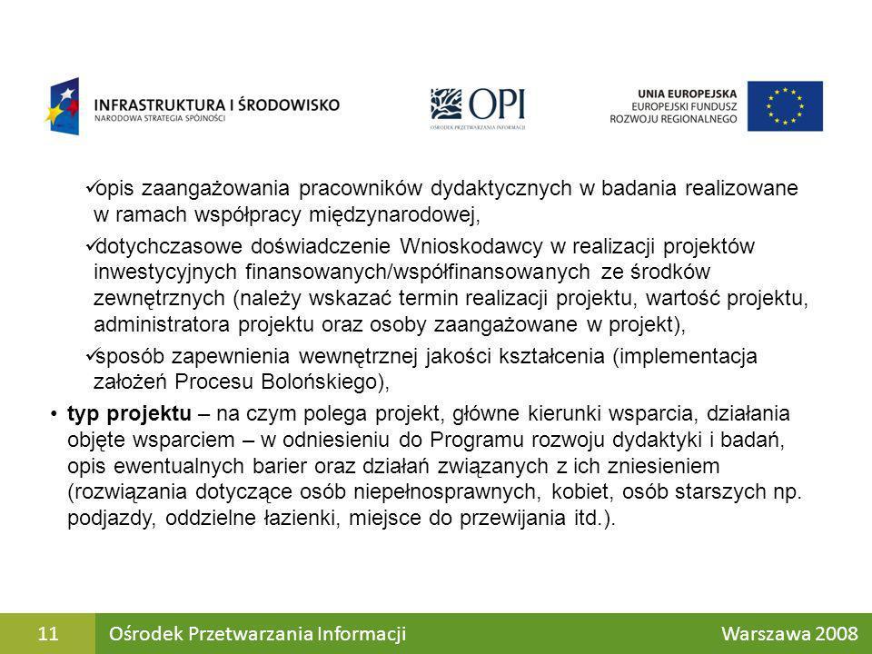 opis zaangażowania pracowników dydaktycznych w badania realizowane w ramach współpracy międzynarodowej, dotychczasowe doświadczenie Wnioskodawcy w rea