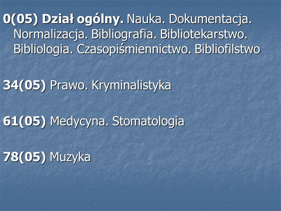0/9(05) Dzienniki.Czasopisma społeczno- kulturalne 351/354(05) Administracja publiczna.