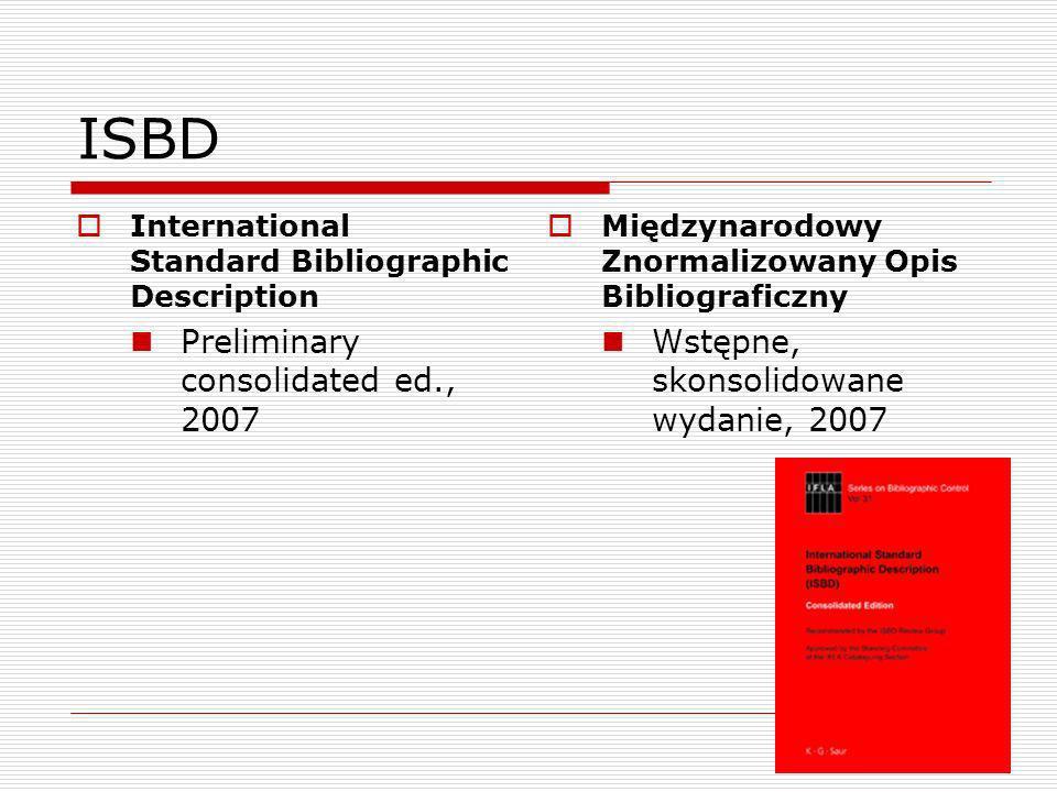 ISBD – struktura