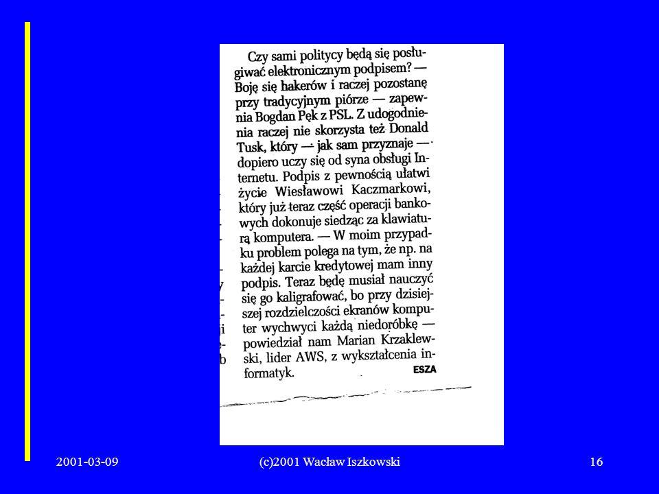 2001-03-09(c)2001 Wacław Iszkowski16