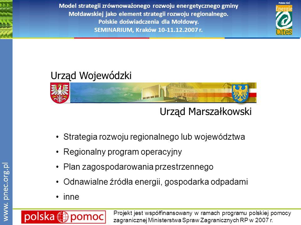 www.pnec.org.pl Polska Sieć www. pnec.org.pl Model strategii zrównoważonego rozwoju energetycznego gminy Mołdawskiej jako element strategii rozwoju re
